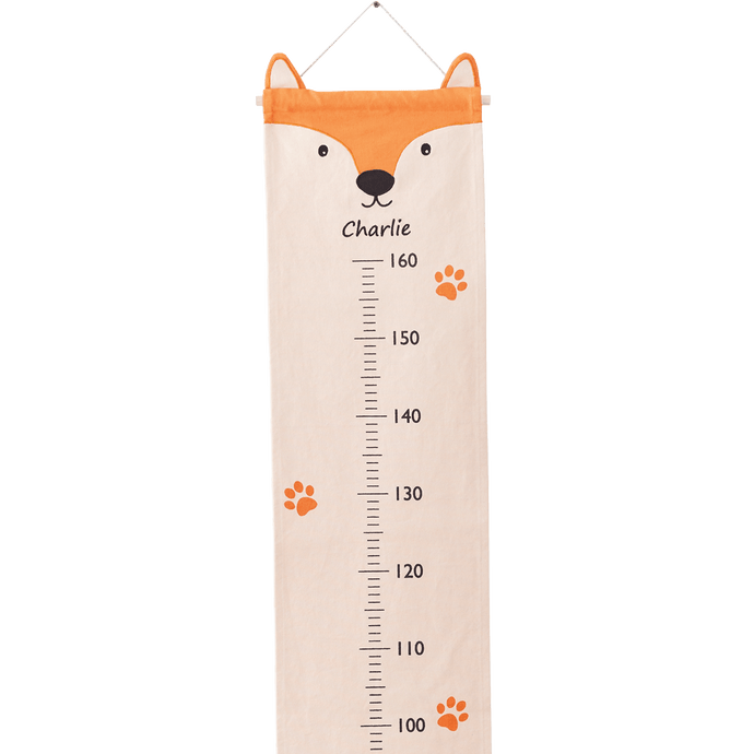 Personalised Height Chart, Fox