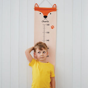 Personalised Height Chart, Mr Fox