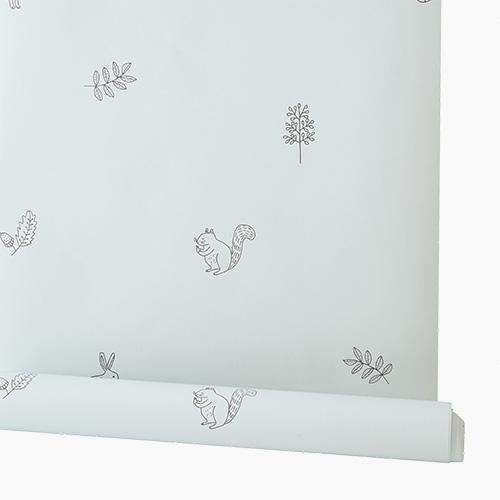 Children's Wallpaper, Woodland Animals by Ryn Frank