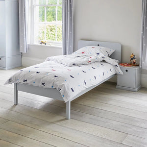 Star Bright Single Bed - Cloud Grey & Classic Mattress