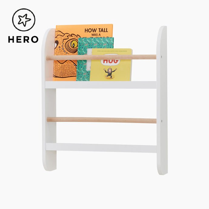 Greenaway Mini Bookcase, White/Natural