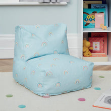 Washable Bean Bag Chair, Rainbow