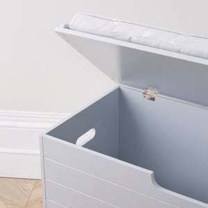 Large Classic Toy Box Seat, Cloud Grey