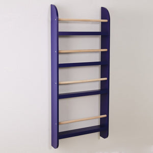 Greenaway Narrow Bookcase, Navy/Natural