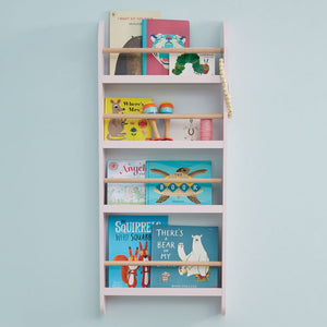 Greenaway Narrow Bookcase, Shell Pink/Natural
