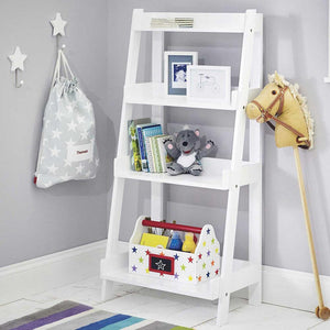 Tiered Bookcase, White