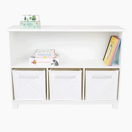 Blake Storage Shelf Unit, White