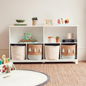 Blake Long Storage Shelf Unit, White