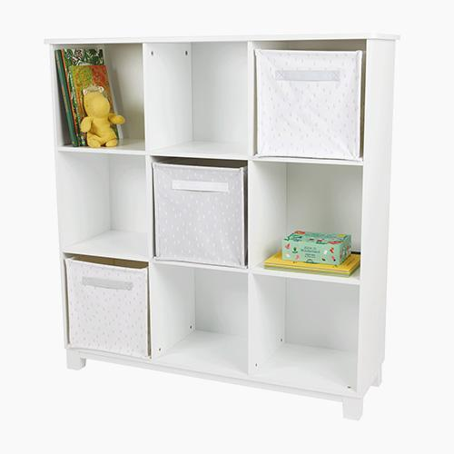 Blake Nine Cube Storage Unit, White