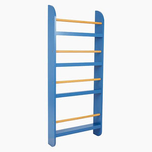 Greenaway Narrow Bookcase, Galaxy Blue/Natural