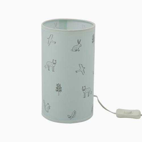 Children's Cylinder Lamp, Woodland Animals by Ryn Frank