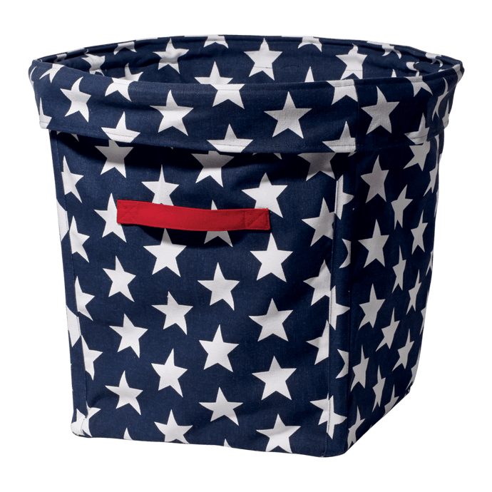 Canvas Storage Tub, Navy Star