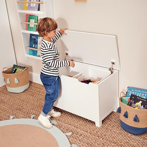 Slide & Store Toy Box, White