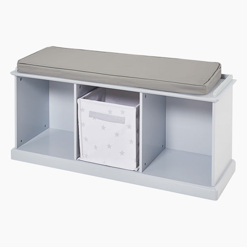 Abbeville Storage Bench Set, Grey with Grey Cushion