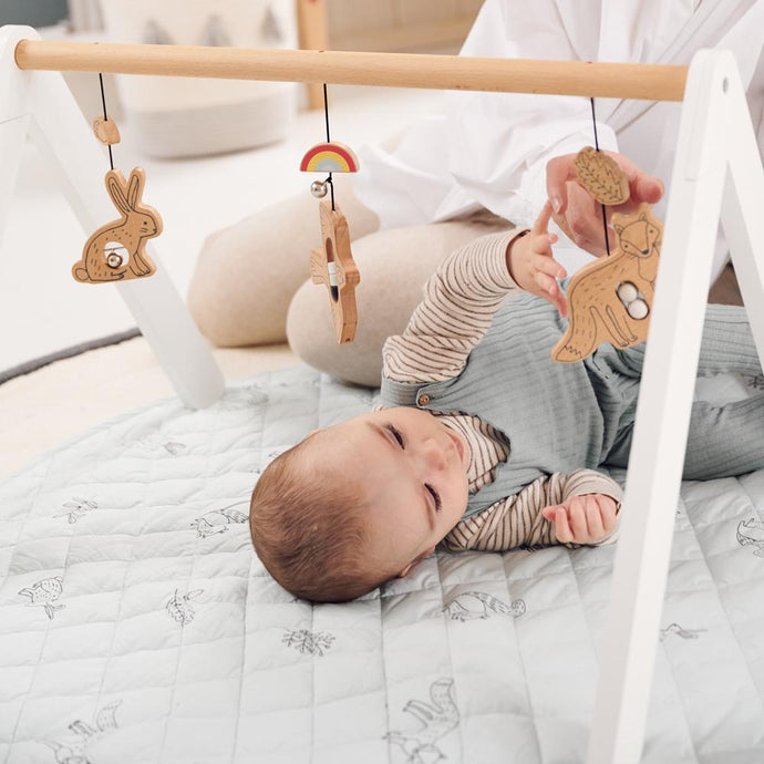Wooden Baby Gym, Woodland Animals by Ryn Frank