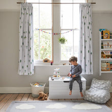Woodland print curtains