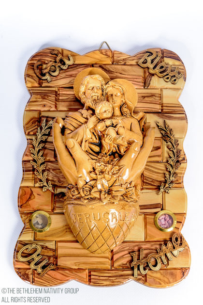 Religious Olive Wood Wall Plaques