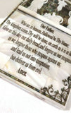 Beautifully Crafted Mother Of Pearl Lord's Prayer with Bethlehem Nativity Crib