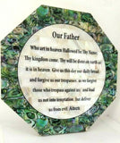 Hand Made Mother Of Pearl The Lord's Prayer ( Our Father ) Wall Plaque