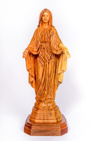 Olive Wood Our Lady Statue from The Bethlehem Nativity Group/ www.tbng.co.uk
