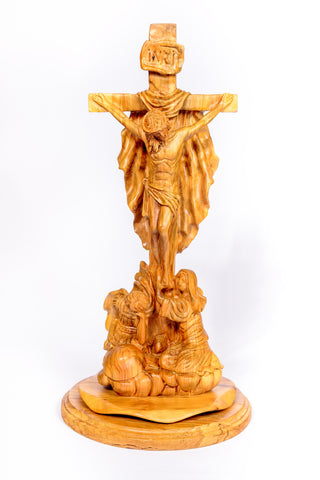 Hand carved olive wood Jesus crucified large Statue from The Bethlehem Nativity Group/ www.tbng.co.uk