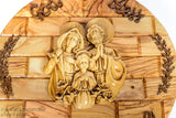 Olive Wood Holy Family plaque/www.tbng.co.uk