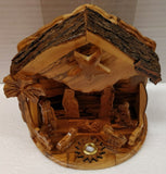 Hand Carved Olive Wood Musical Nativity Scene From Bethlehem,The Holy Land.