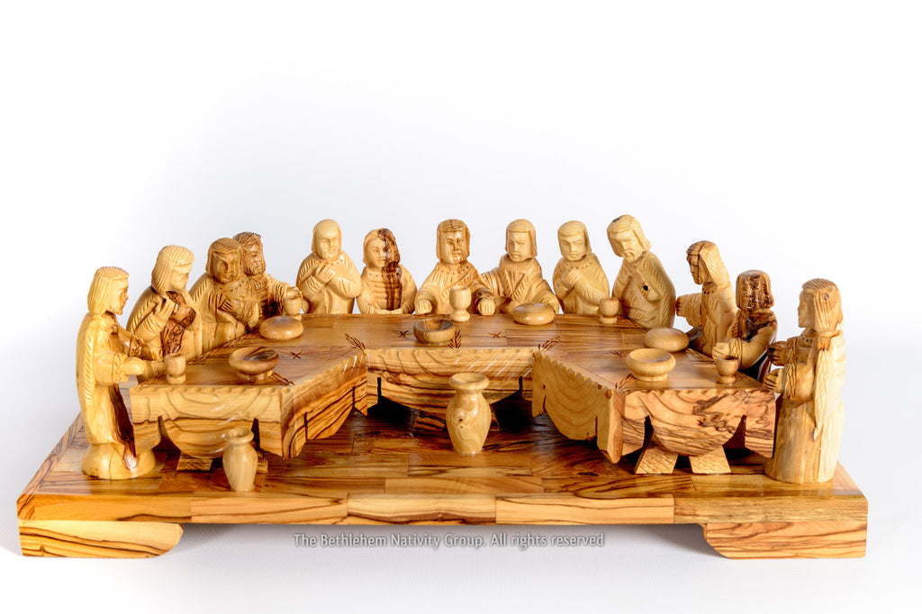 Hand carved wooden wall panel in relief the last supper catawiki