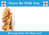 Hand Made Olive Wood Small Praying Angel Statue, Made in Bethlehem,The Holy Land