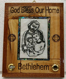 Hand Made Olive Wood&Mother Of Pearl Last Supper wall Plaque From Bethlehem,Holy Land