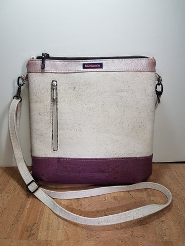 White, Rose and Purple Cork Sling Bag