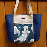 Cork Tote Polar Bear