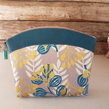 Makeup Bag Teal Cork