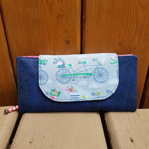 Slim Wallet Bicycle Blue