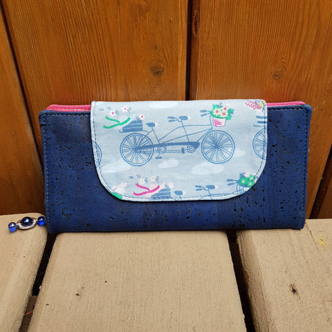 Slim Wallet Bicycle Blue 2