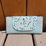 Slim cork wallet with Tilda fabric