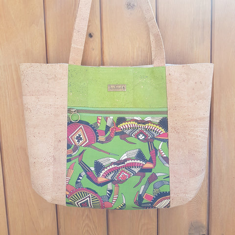 Tote bag Crab Lime
