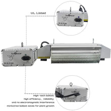 Load image into Gallery viewer, SunStream 1000 Watt DE Double Ended HID Grow Light System Kits, 2100K DE HPS Bulb, Open Style Reflector with 120-240V Digital Dimmable Ballast