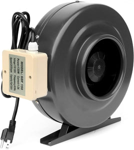 SunStream Duct inline Fan Vent Blower for HVAC Exhaust and Intake, Grounded Power Cord