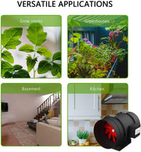 Load image into Gallery viewer, SUNSTREAM Plastic Inline Duct Fan Heating Cooling Ventilation and Exhaust for Grow Tents