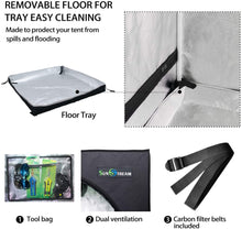 Load image into Gallery viewer, SunStream Grow Tent with easy-view Window for Indoor Plant Growing, Water-Resistant