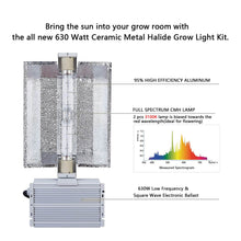 Load image into Gallery viewer, SunStream 630W Double Bulb CMH Grow Light System Include Bulb