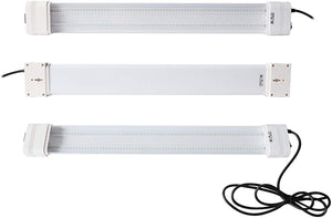 SunStream 2-Light 19-Watt White LED Hydroponic Linkable Grow Light
