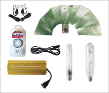 SunStream 600 Watt Hps MH Digital Dimmable Grow Light System Kits Wing Reflector Set with Timer