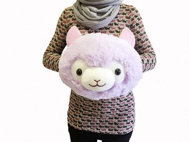 Llama Alpaca Hand Warmer Plush (Purple) - 12 inches