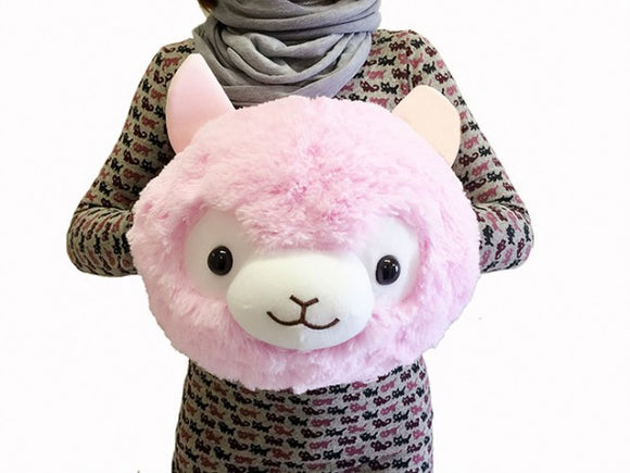 Llama Alpaca Plush Hand Warmer (Pink) - 18 inches