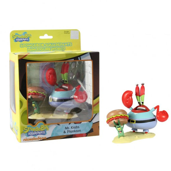 SpongeBob SquarePants Mini Figure World Series 2 - Mr Krabs & Plankton