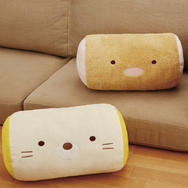 Sumikko Gurashi Neko Face Cushion Roll