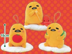 Gudetama Lunch Box  Keychain Plush (set/3)