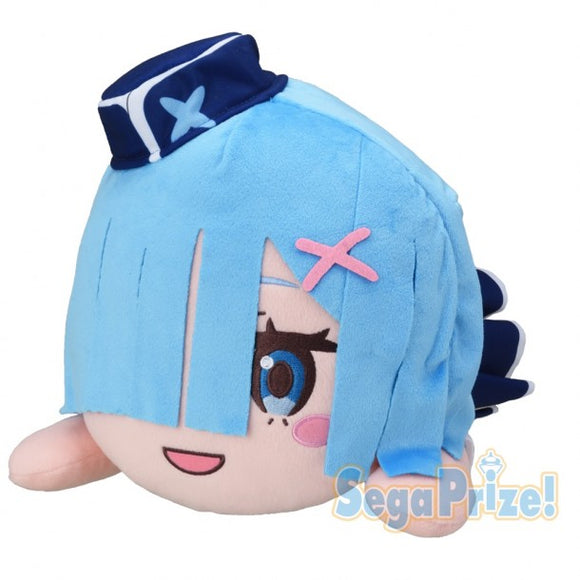 Re:Zero Jumbo Nesoberi  Lying Down Plush - Rem (Welcome Aboard Lugnica AirLines Ver.)